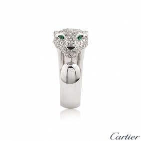 Cartier Panthere Diamond Emerald & Onyx Ring N4224900